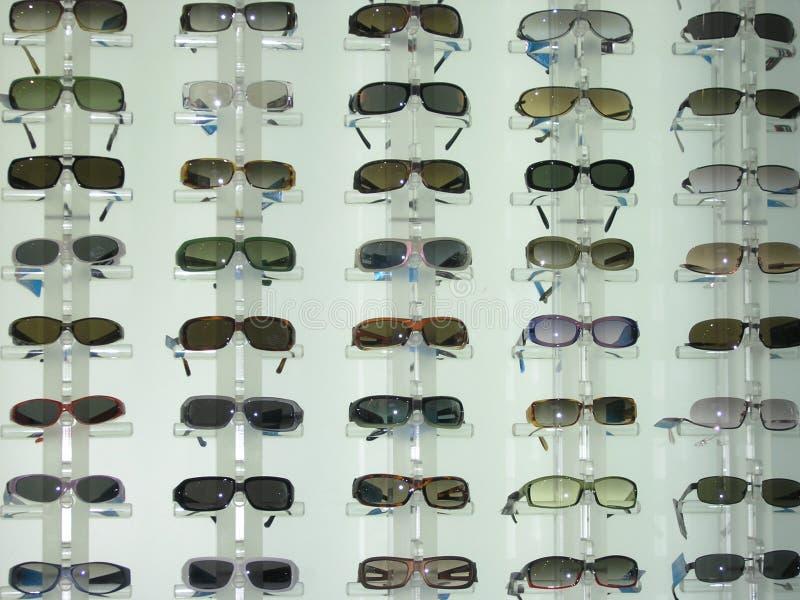 De vertoning van de zonnebril stock foto's