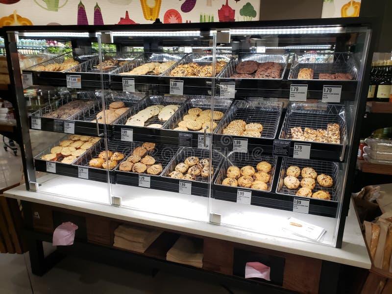 De vertoning van het koekjesmonster stock foto's