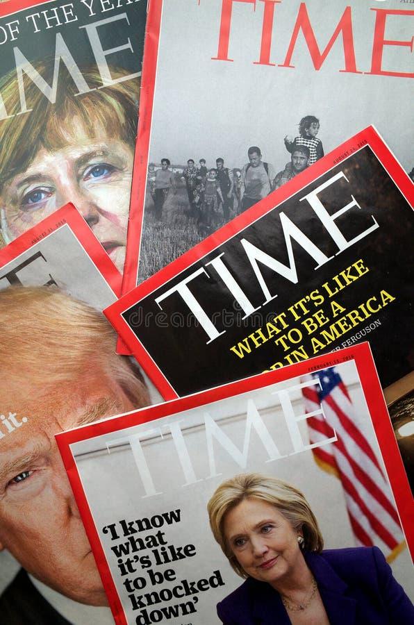 De Vertoning van het tijdtijdschrift royalty-vrije stock foto's