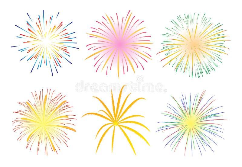 De Vertoning van het vuurwerk stock illustratie