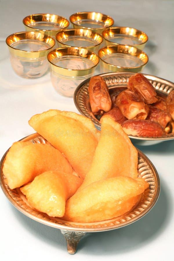De vertoning van Iftar stock fotografie