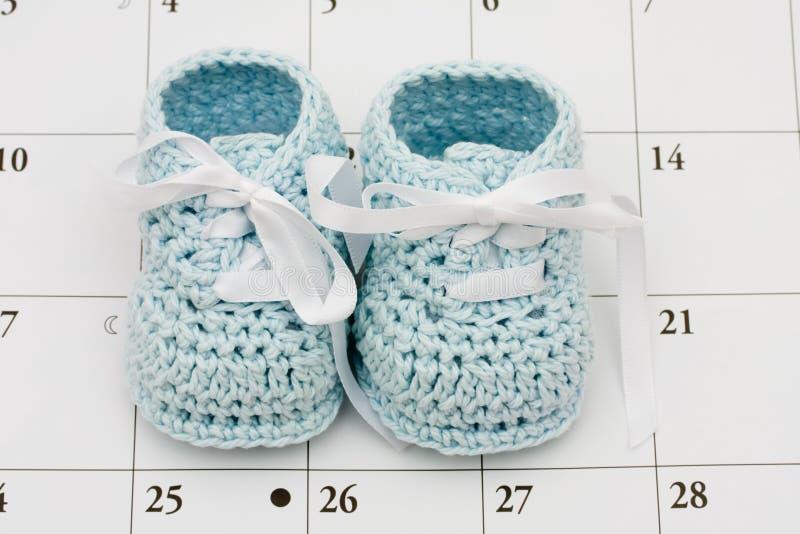 De vervaldatum van de baby stock afbeeldingen