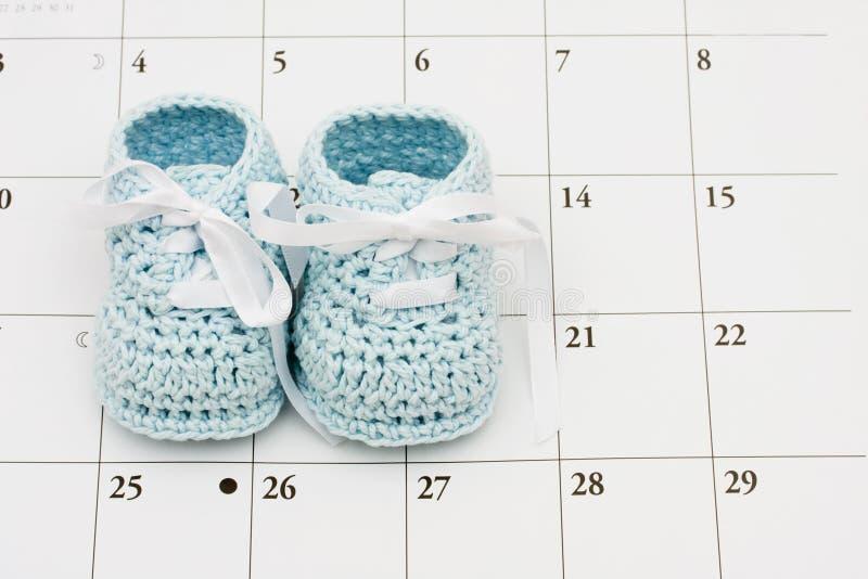 De vervaldatum van de baby stock foto