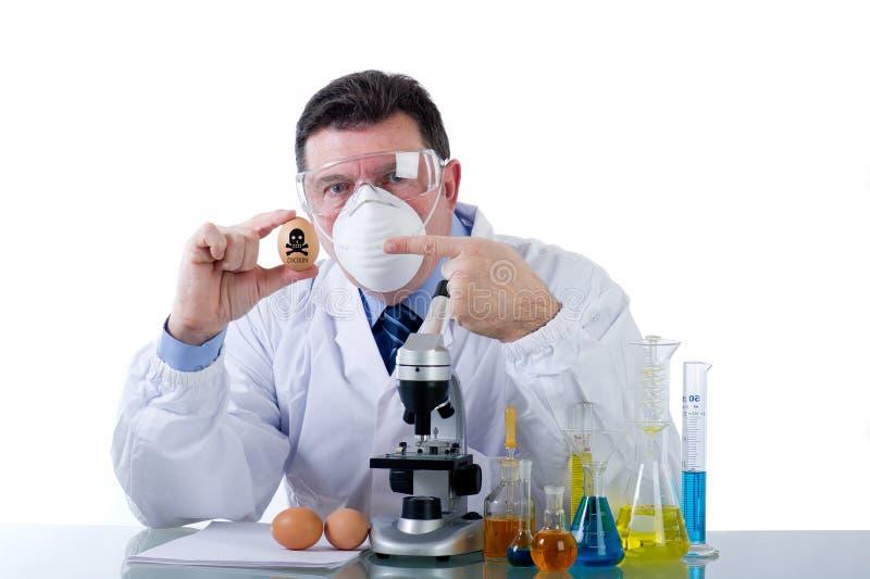 De vervalsingseieren van het voedsel met dioxin royalty-vrije stock foto's
