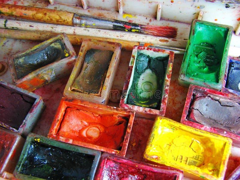 De verven van Watercolour royalty-vrije stock foto's