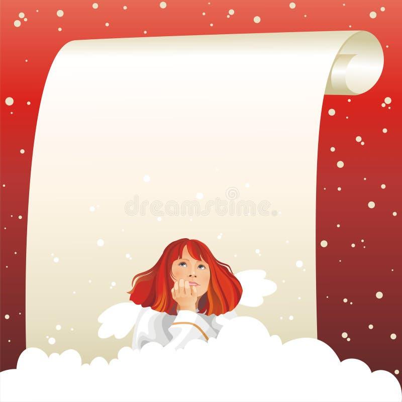 De verwachting van het mirakel. Engel en Kerstmis. royalty-vrije illustratie