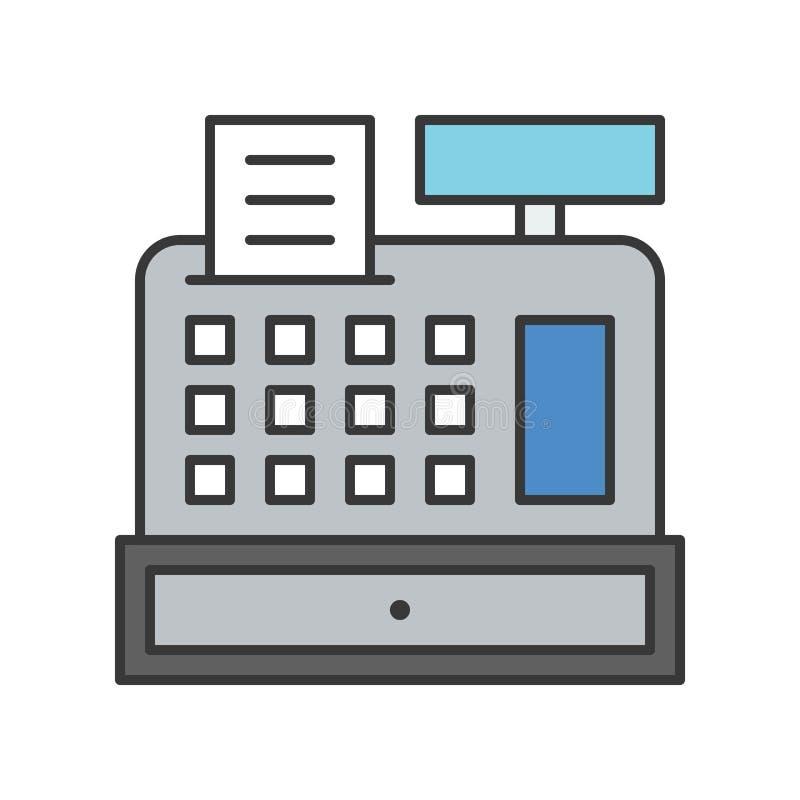 De verwante kassamachine, Bankbouw, bank en financieel royalty-vrije illustratie