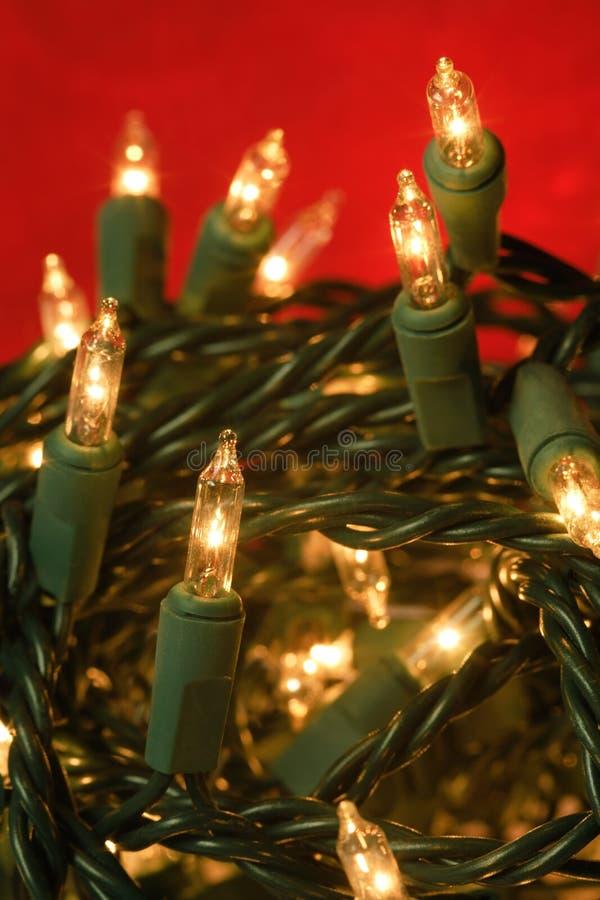 De verwarde lichten van Kerstmis stock foto