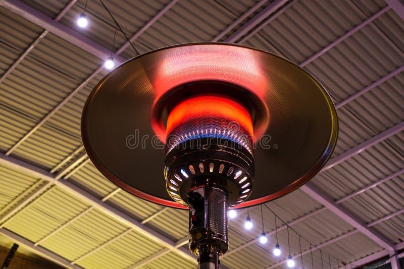 De verwarmer van het gasterras stock foto