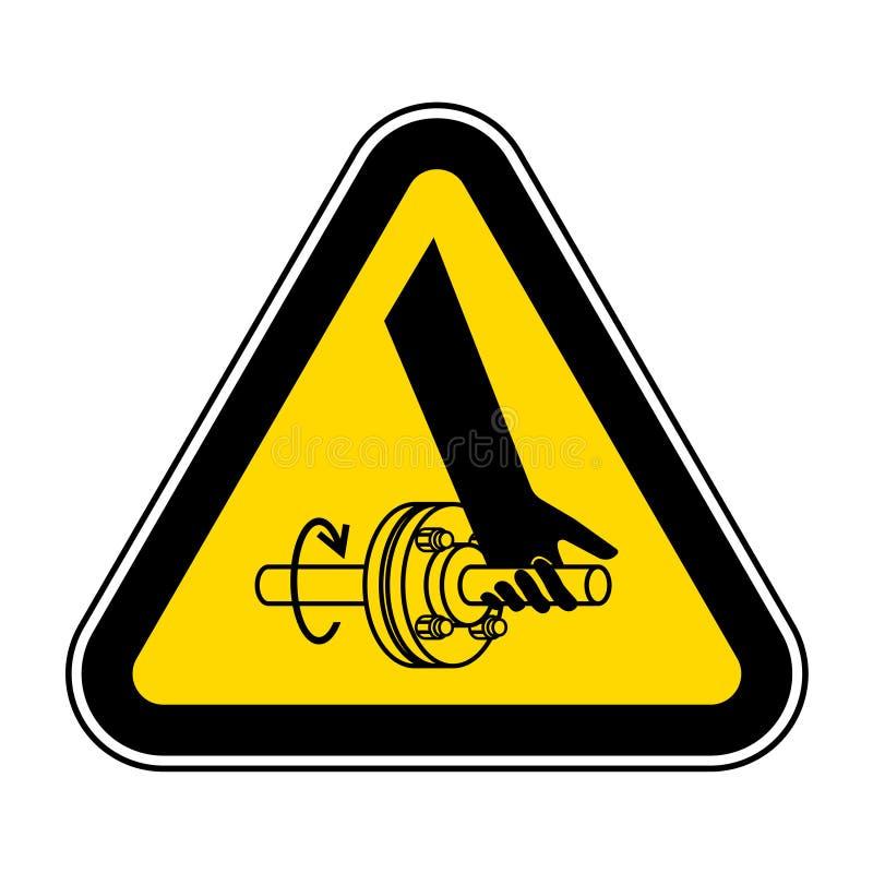De verwarring van het Symboolteken van de Hand Roterend Schacht isoleert op Witte Achtergrond, Vectorillustratie EPS 10 stock illustratie