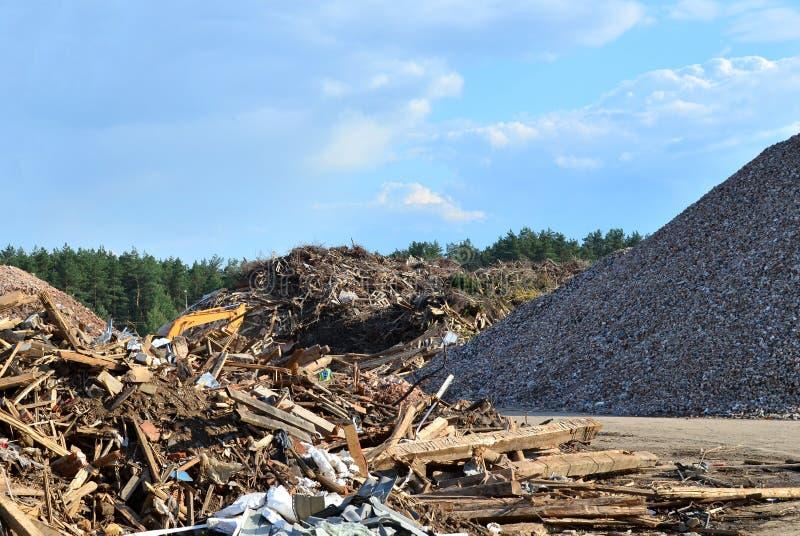 De verwerkingsinstallatie van de industrieel afvalbehandeling royalty-vrije stock foto's