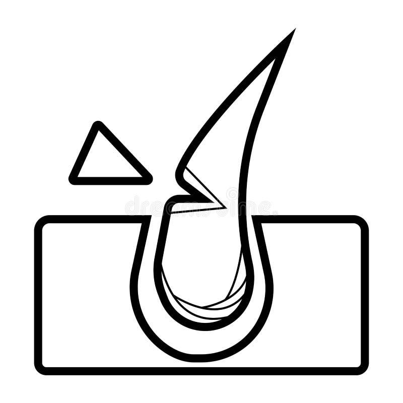 De verwijderingspictogram van het laserhaar vector illustratie