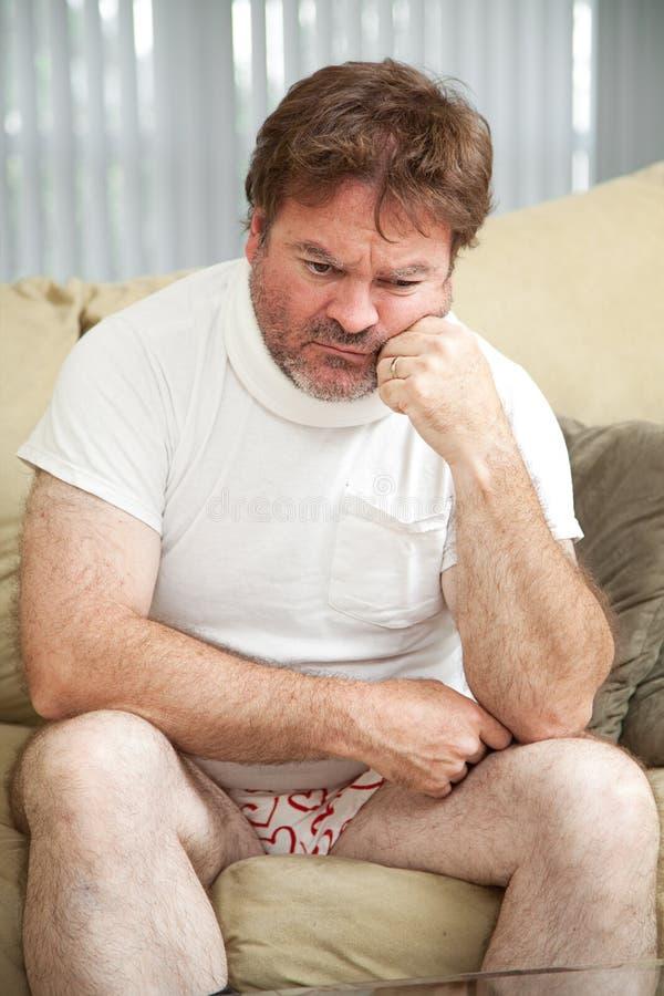 De verwonding veroorzaakt Depressie stock afbeeldingen