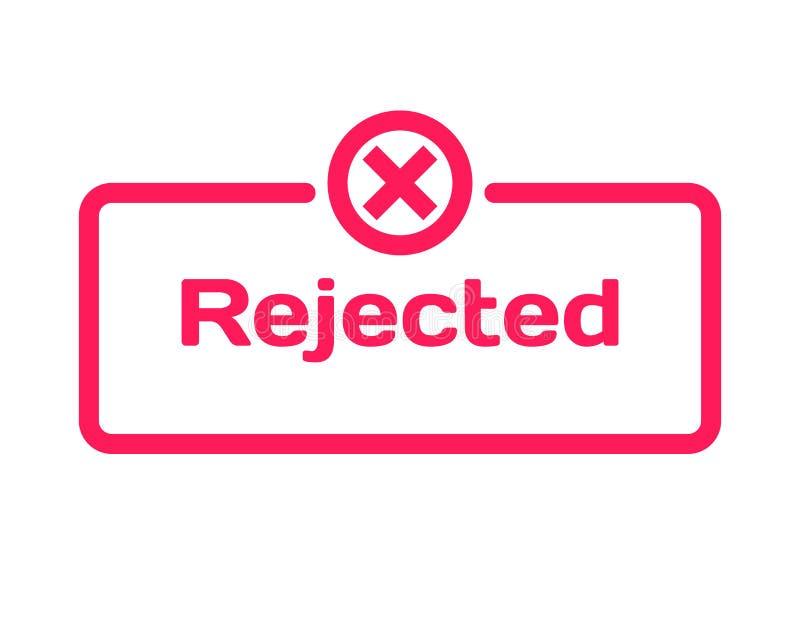 De verworpen bel van de malplaatjedialoog, vlakke stijl op witte achtergrond Basis met teken x pictogram voor divers woord van pe stock illustratie