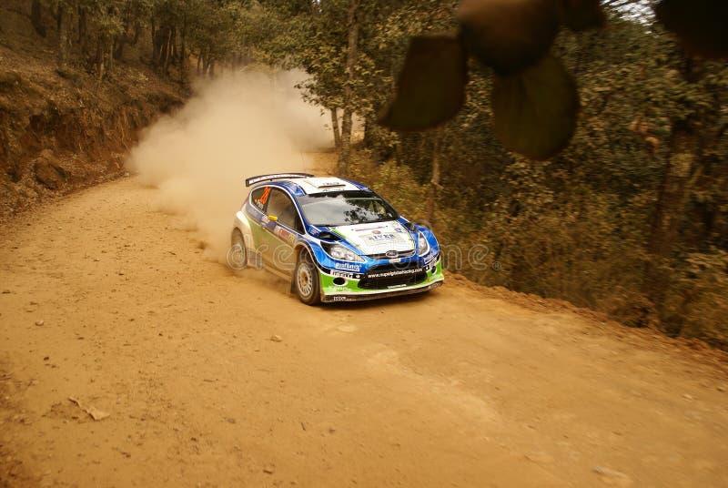 De Verzameling Mexico 2010 Xavier PONS van de Corona WRC royalty-vrije stock afbeeldingen