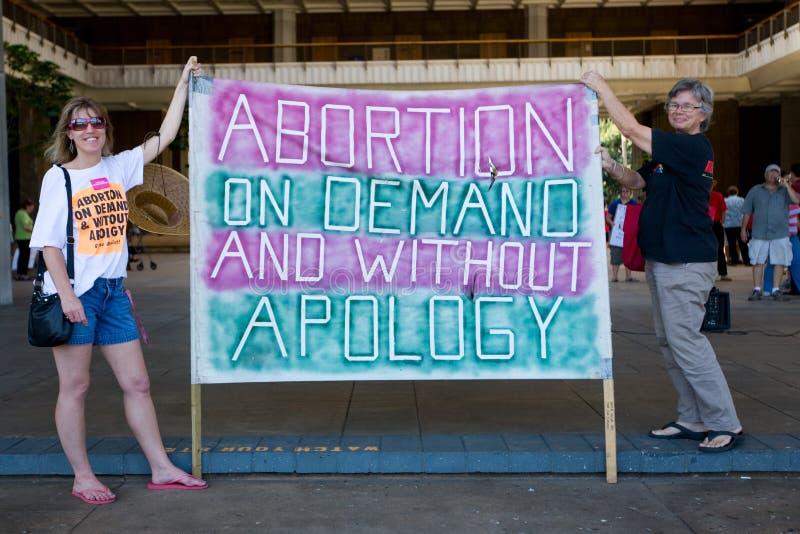 De Verzameling van de pro-Keus van de abortus bij het Kapitaal van de Staat van Hawaï royalty-vrije stock afbeelding