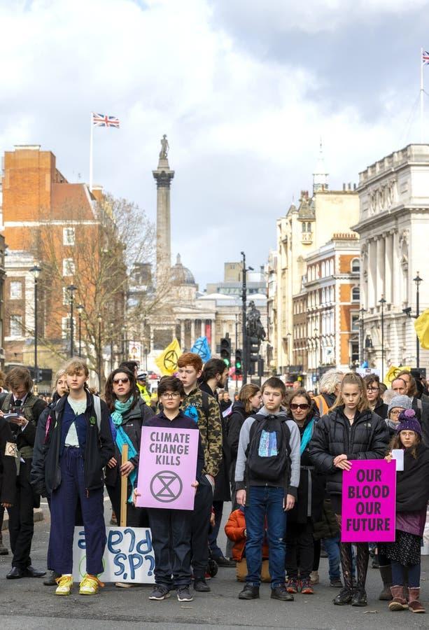 De Verzamelingsdemonstratie van de uitstervenopstand in Londen royalty-vrije stock foto's