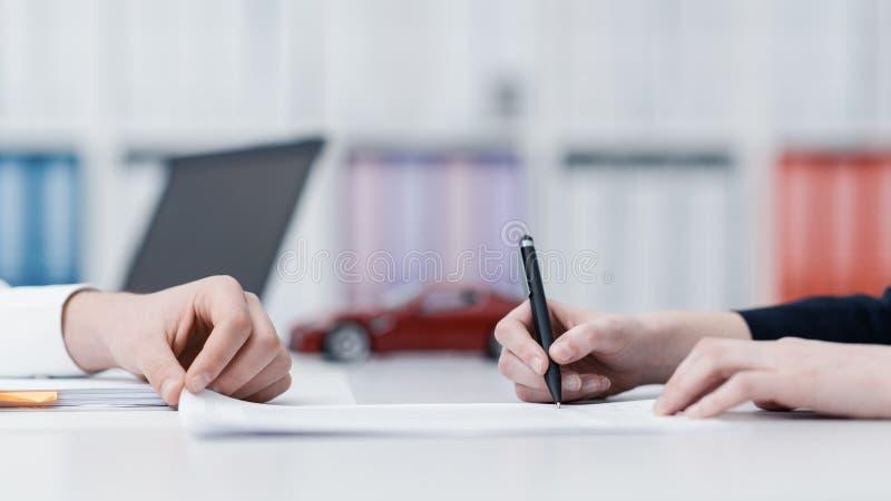 De Verzekering van de auto royalty-vrije stock foto