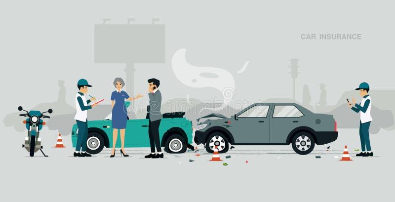 De Verzekering van de auto royalty-vrije illustratie