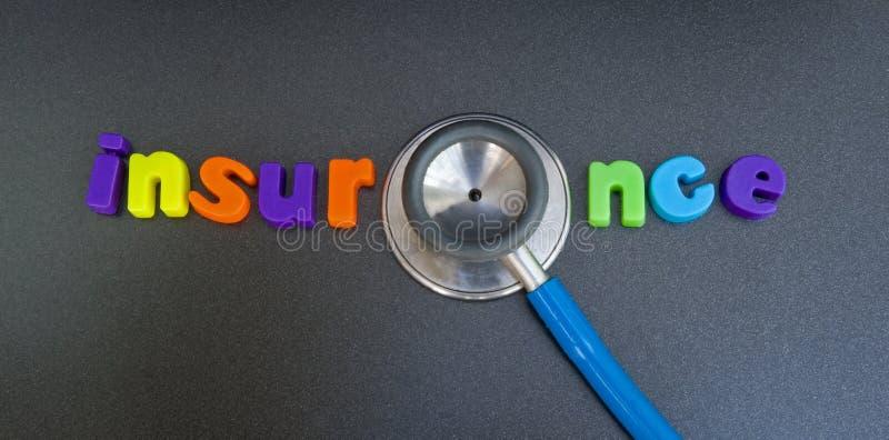 De verzekering van de gezondheid: mogelijk embleem. stock foto's