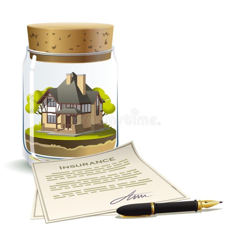 De verzekering van het bezit royalty-vrije illustratie