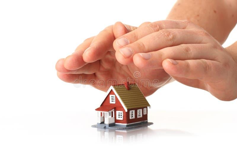 De verzekering van het huis. royalty-vrije stock afbeeldingen