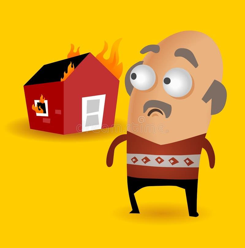 De verzekering van het huis royalty-vrije illustratie