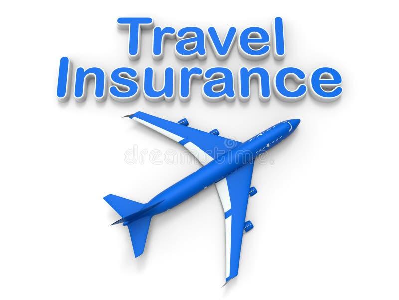 De verzekeringsconcept van de luchtreis vector illustratie