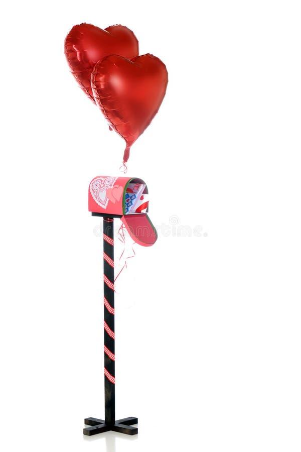 De verzonden Wensen van de Valentijnskaart stock afbeeldingen