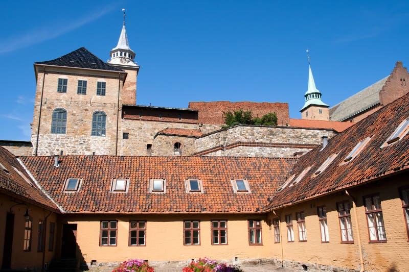 De Vesting van Akershus (Oslo - Noorwegen) stock foto