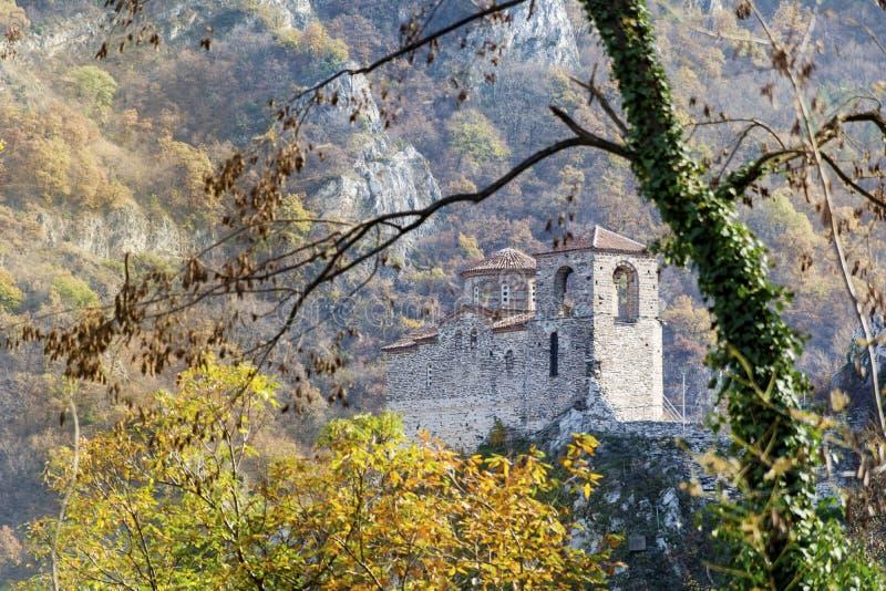 De Vesting van Asen in Asenovgrad, Bulgarije royalty-vrije stock afbeelding
