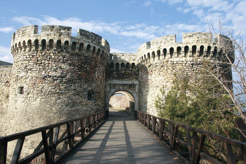 De vesting van Belgrado stock afbeeldingen