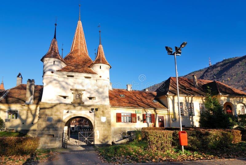 De vesting van Brasov in Roemenië, Poort Ecaterina royalty-vrije stock foto's