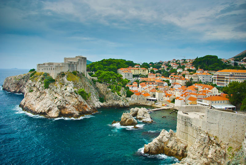 De vesting van Dubrovnik royalty-vrije stock foto's