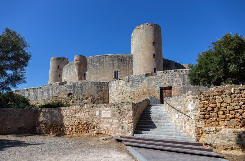 De vesting van het Bellverkasteel in Palma-de-Mallorca, Spanje stock afbeeldingen