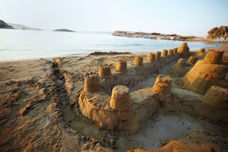 De vesting van het zand stock fotografie