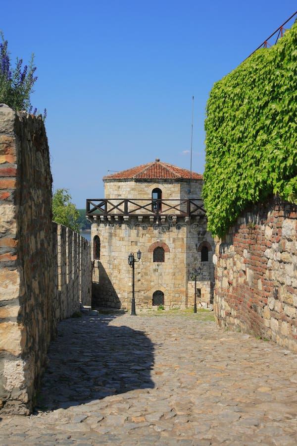 De vesting van Kalemegdan in Belgrado royalty-vrije stock foto's