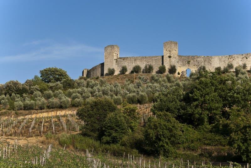 De vesting van Monteriggioni royalty-vrije stock afbeelding