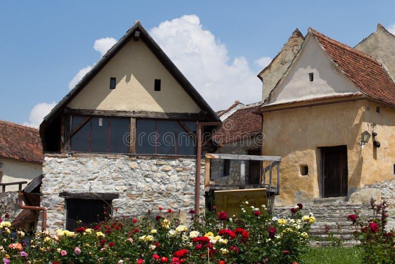 De vesting van Rasnov, Transsylvanië stock foto