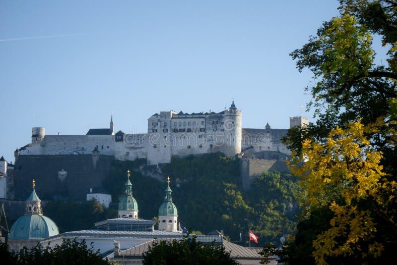 De Vesting van Salzburg - Oostenrijk royalty-vrije stock afbeelding