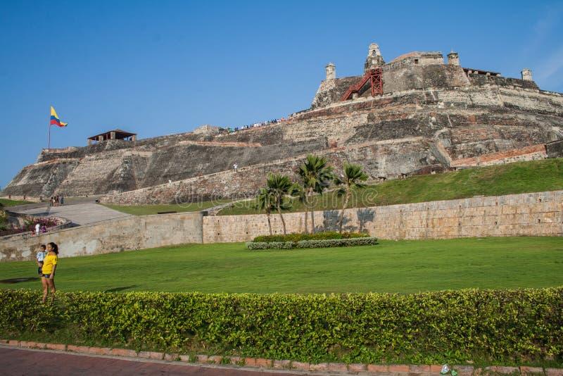 De vesting van San Felipe de Barajas stock foto