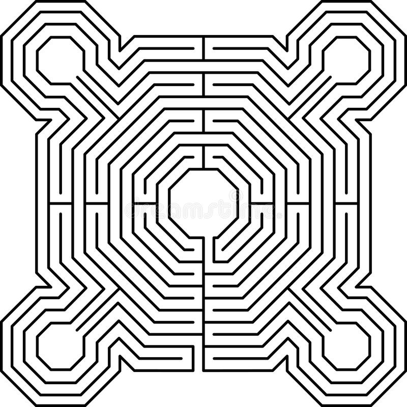 De vestingswit van het labyrint stock illustratie
