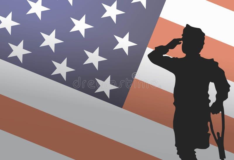 De Veteranendag van de V.S., 11 November Echte helden Alle eren die s vector illustratie