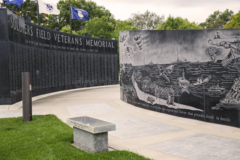 De veteranengedenkteken van het militairengebied stock foto's
