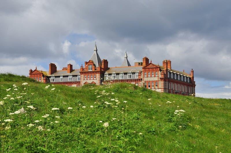 De Victoriaanse hotelbouw Cornwall, Engeland, het UK stock fotografie