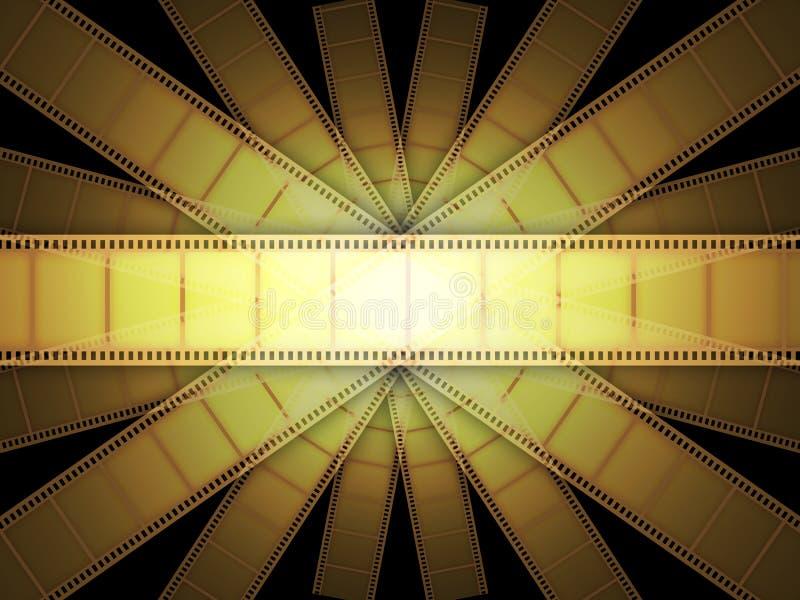 De VideoFilm van de bioskoop vector illustratie