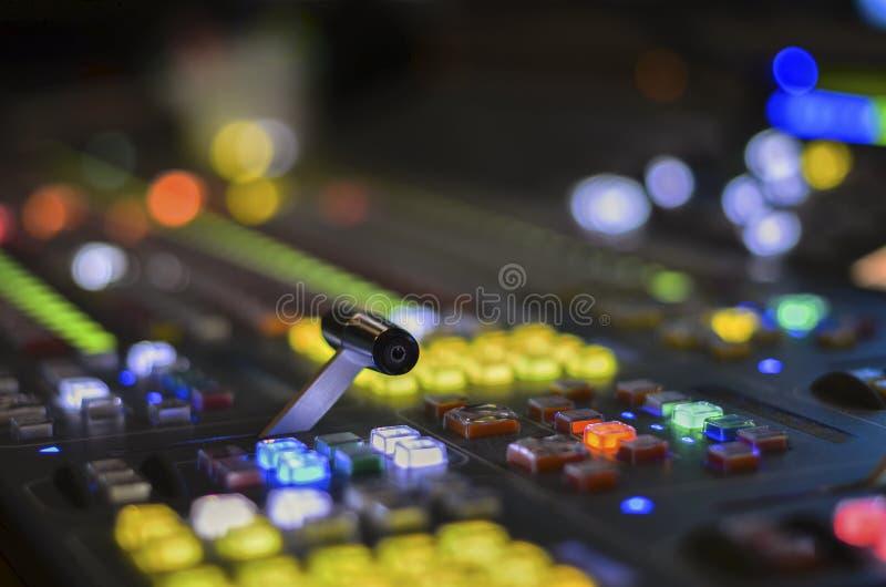 De videomixer van TV stock afbeeldingen