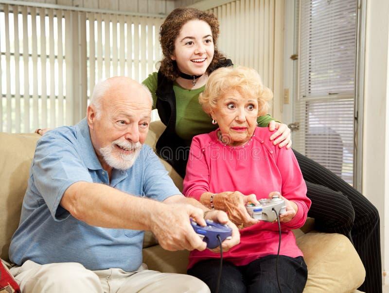 De Videospelletjes van de Spelen van de familie royalty-vrije stock afbeelding