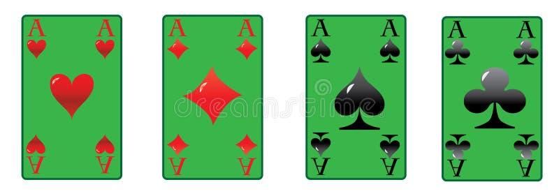 De vier azen royalty-vrije illustratie