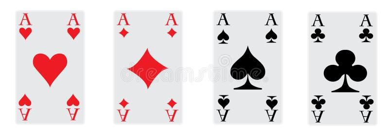 De vier azen van pook vector illustratie